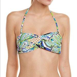 Trina Turk swim twist bandeau top size 14